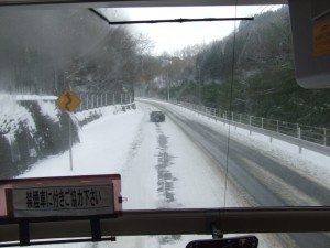 中2階バス(スーパーハイデッカー)からの眺め
