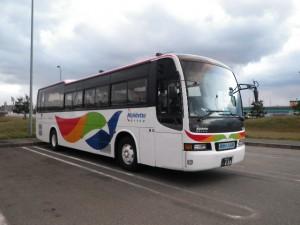 西鉄観光バスのリニューアルカラー