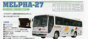 中型バス日野メルファ27人乗