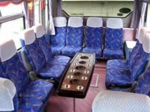 東京の南街観光バス中型サロン